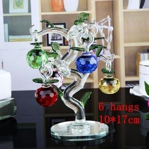 Image 4 - คริสตัลApple Treeเครื่องประดับFengshuiหัตถกรรมHome Decor Figurinesคริสต์มาสปีใหม่ของขวัญของที่ระลึกเครื่องประดับตกแต่ง