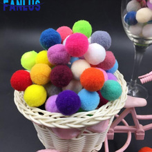 200pcs/400pcs 10mm Pompoms Ball For DIY Crafts Supplies Pompom Handmade Fluffy Plush Pom Poms Kids Decor