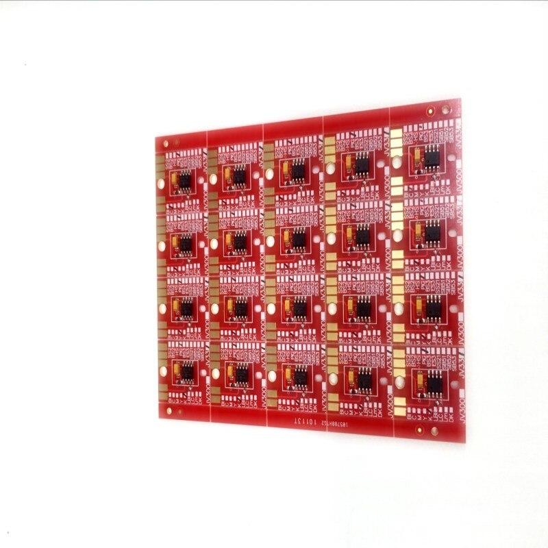 Chip Permanent for Mimaki JV300 / JV500 SS21 Cartridge 6 Colors CMYKLCLM 6pcs set cmyklclm permanent roland xc 540 eco solvent chips