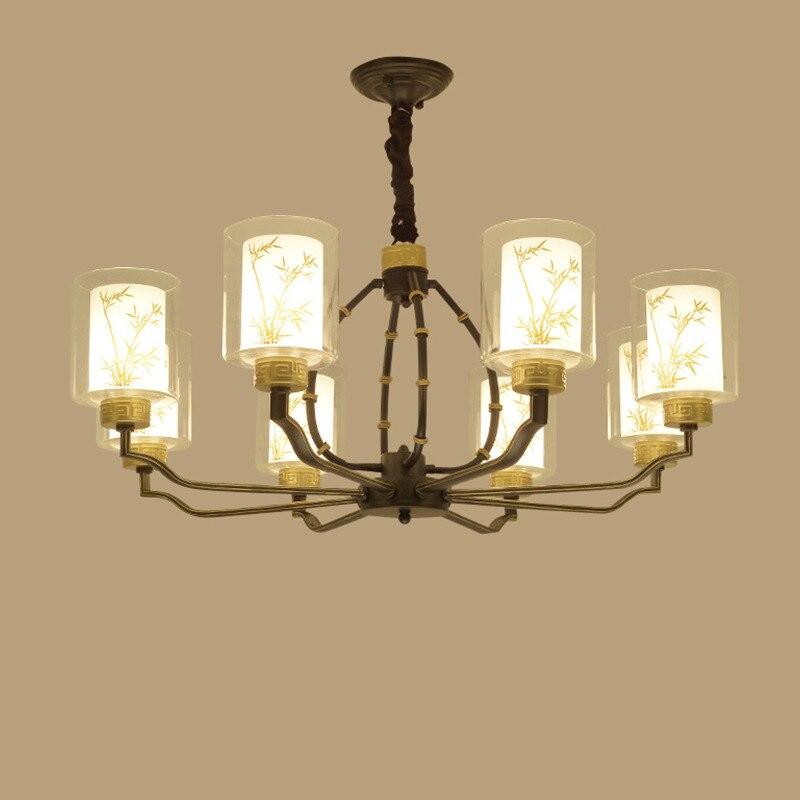 YOOK 10 Lihgts LED Chandelier Living Room Light Simple Room Chandelier Restaurant Lights Chandelier E14 220v