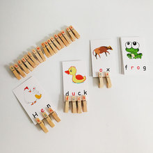 Language Montessori Materials Clip Animal Montessori Cards Educational Early Learning Toys For Kids Juguetes Brinquedos YH0244H все цены
