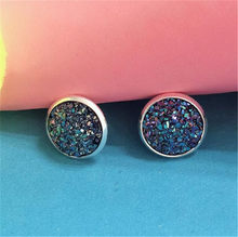 1 Pair Sell Shine Ear Hoop Earrings For Women 10 Colors Round With Cubic Zircon Women Jewelry Gift(China)