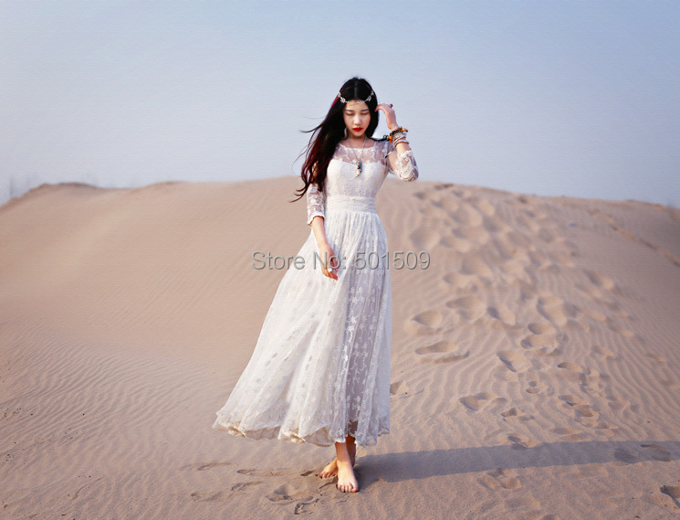 free ship lace embroidery full sleeve long medieval dress Renaissance lace Gown princess costume Victorian/Marie Antoinette