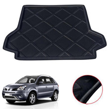 For Renault Koleos 2006-2017 Car Rear Trunk Liner Cargo Boot Mat Floor Tray Auto Interior Accessories Styling Car-covers for lada largus 2012 2018 trunk mat floor rugs non slip polyurethane dirt protection interior trunk car styling