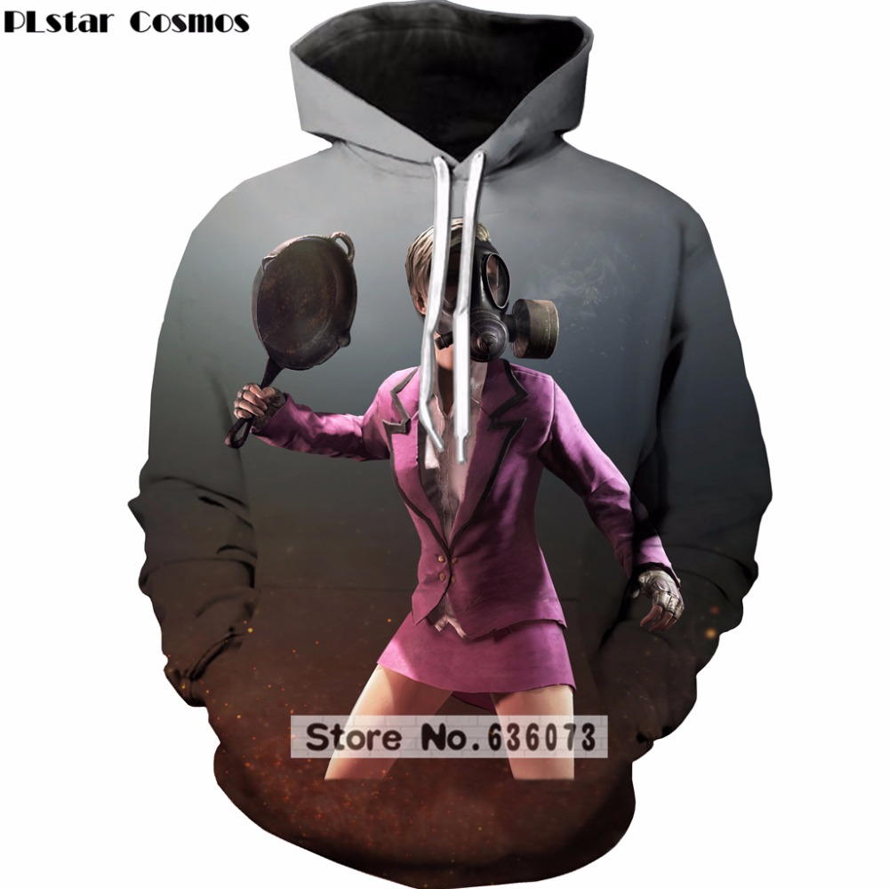 PLstar Cosmos brand Hoodies 2018 Hot sale FPS Game Playerunknowns Battlegrounds Print 3d hooded sweatshirt casual Tracksuits