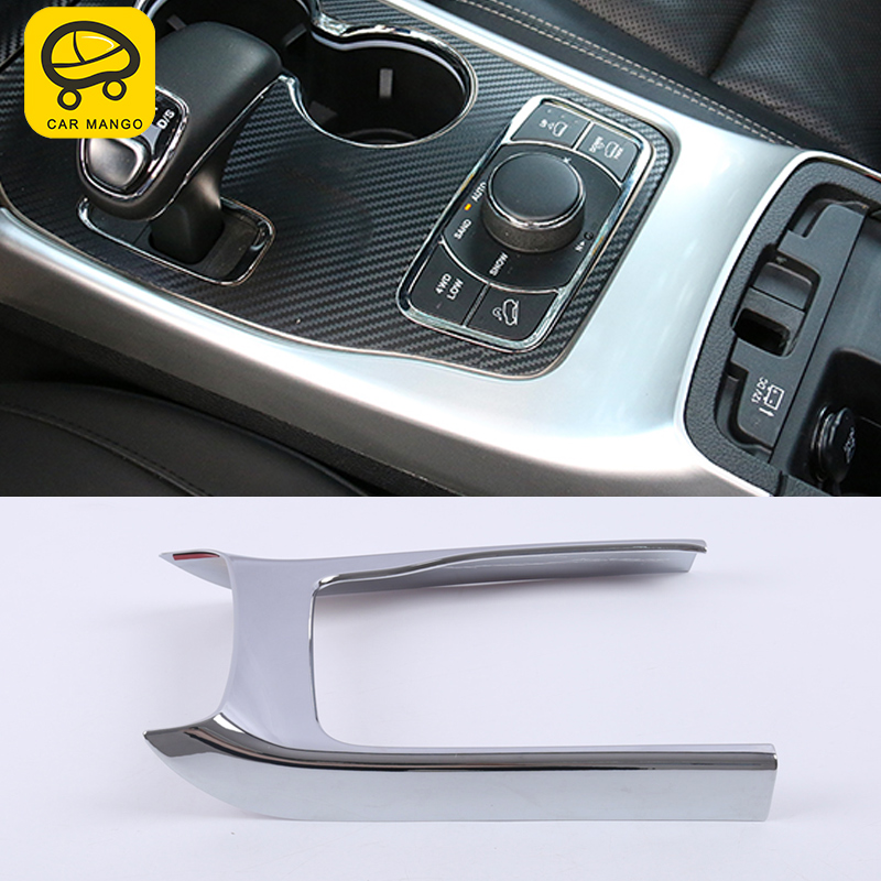 CARMANGO For Jeep Grand Cherokee 2017 Auto Car Gear frame Cup holder frame Trim Stickers Covers Interior Accessories