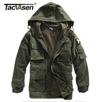 Mens Winter Military Cotton Jacket US Army AIR FORCE Thermal Trench With Hood Outdoor Wadded Jacket
