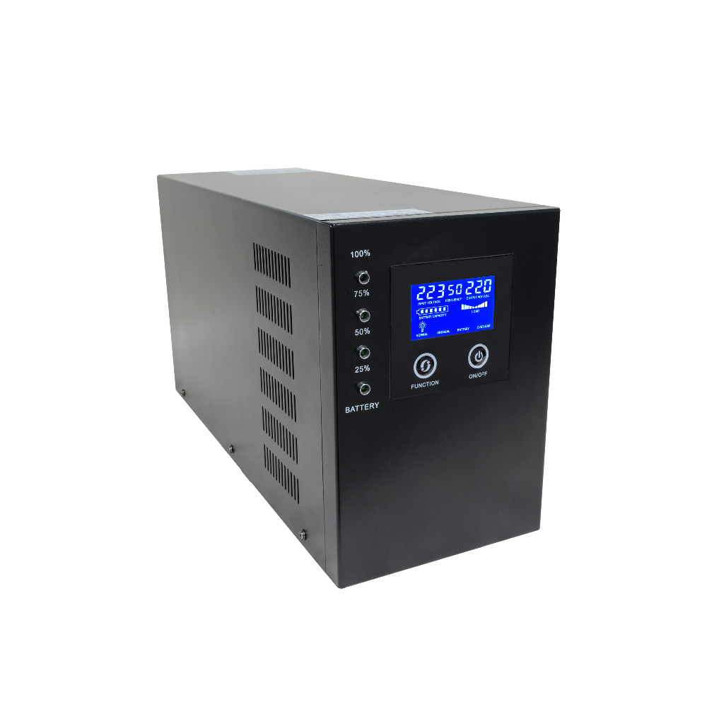 LCD display 800W 1000VA 1KVA home power ups pure sine wave Line Interactive UPS 2kva 2000va 1600w smart lcd display pure sine wave line interactive ups industrial power supply