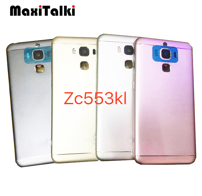 10PCS/Lot High Quality For ASUS Zenfone 3 Max ZC553KL Battery Cover Back Door Rear Housing Glass Cover Case