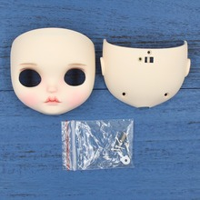 Neo Blythe Doll Matte Faceplate With Back Plate & Screws