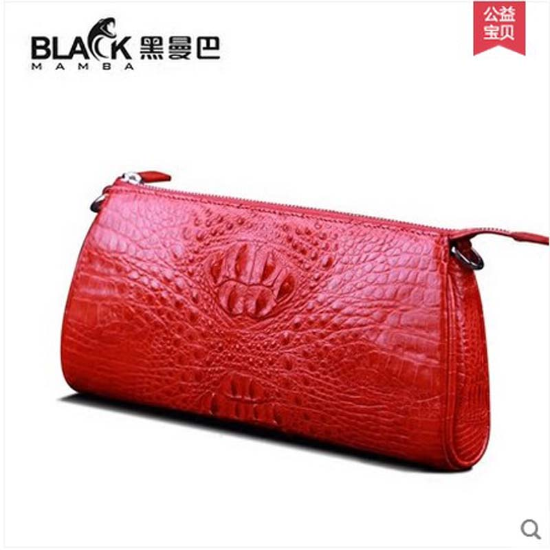 heimanba crocodile girl women bag 2018 new single-shoulder bag women's chain handbag slanted alligator bag with alligator skin