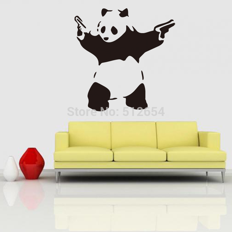 New Kungfu Panda Wall Sticker Removable for Kids Room Home Decor-in ...