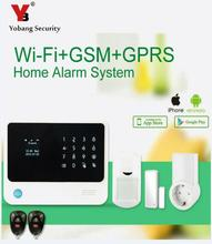 YobangSecurity Wifi Alarm System Security Home Touch Screen GSM Wireless Alarm System With RF Socket to Control Home Appliance