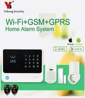 Yobangsecurity Wi Fi сигнал Системы безопасности дома Сенсорный экран GSM Беспроводной сигнализации Системы с РФ сокет Управление бытовой техники