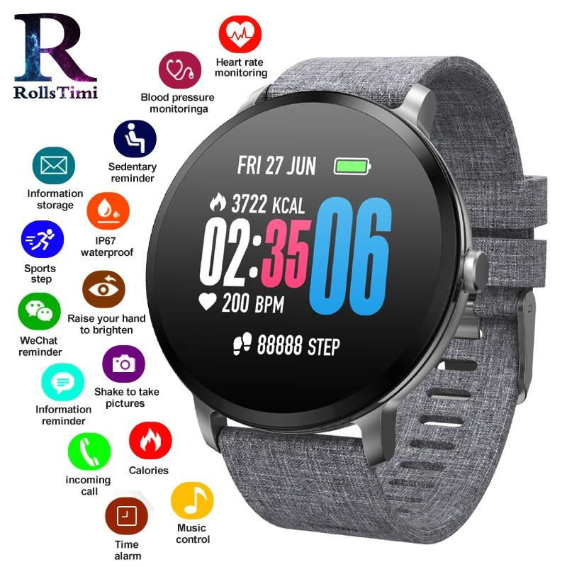 RollsTimi Sports Smart Watches IP67 Waterproof Women Activity Fitness Tracker Wristband Heart Rate Monitor New Men Smartwatch