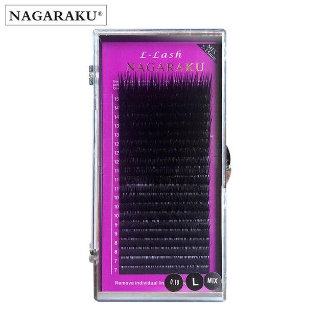 9d5a050c417 NAGARAKU L curl 7~15mm MIX 20rows/case mink eyelash extension,L curl ...