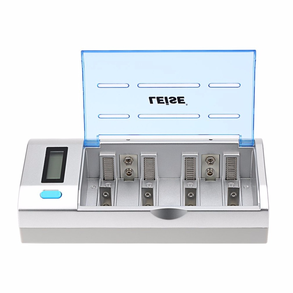 LEISE 908 Multi-functional LCD Intelligent Fast Charging Set with One Charger and Four Types Rechargeable Battery