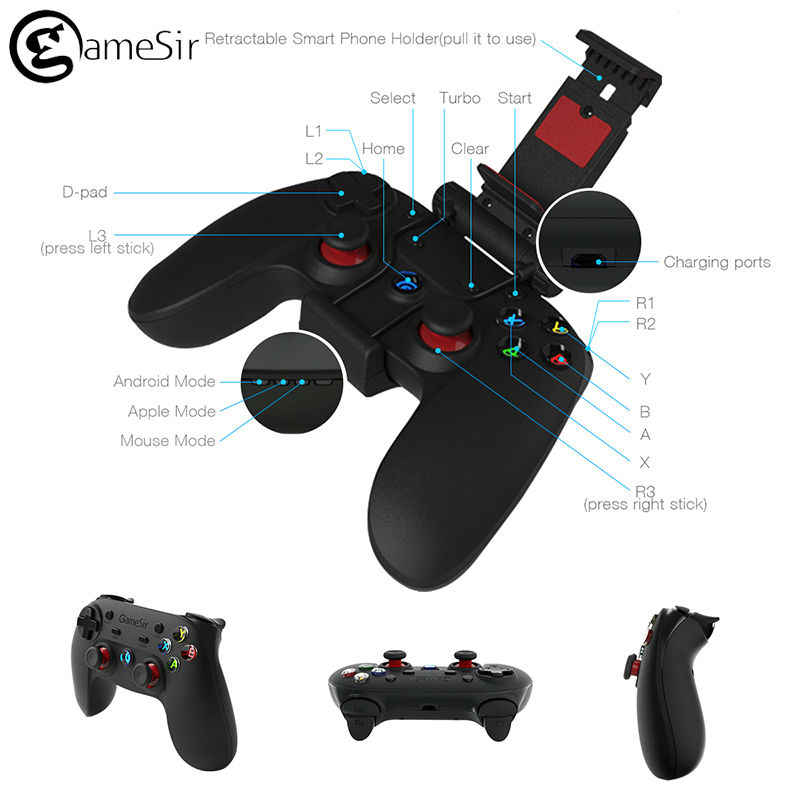 GameSir G3s Gamepad for PS3 Controller Bluetooth&2 4GHz snes