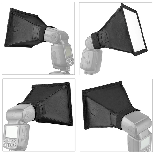 Universal Flash Diffuser Light Softbox Collapsible Speedlite Translucent Soft Box with Carry Bag For DSLR Camera Speedlights 2