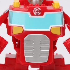 Image 5 - Playskool figurine héros transformateurs de sauvetage et robots, vague de chaleur, feu, tir à chaud, Rescan Chase la Police Bot, 13cm