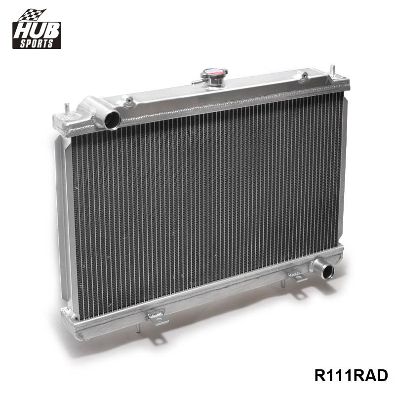 50MM 2 Row Manual Racing Aluminum Radiator For Nissan Silvia S14 S15 SR20DET 240SX 200SX HU-R111RAD epman 42mm 2 row aluminum radiator for nissan skyline r33 r34 gtr gtst rb25det mt ep r106rad