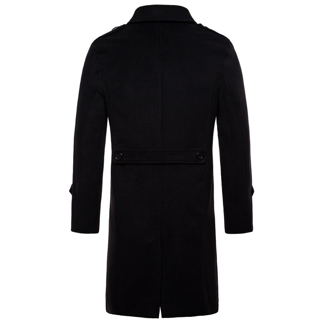 a8422e01b4b80 2019 Casual England Style Mens Long Coats 2018 Winter Fashion Warm ...