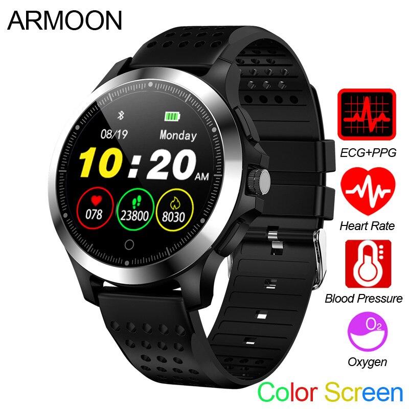 Smart Watch W8 ECG PPG Heart Rate Bracelet Sleep Monitor Blood Pressure Fitness Tracker Waterproof Color Screen Multi Sport Band