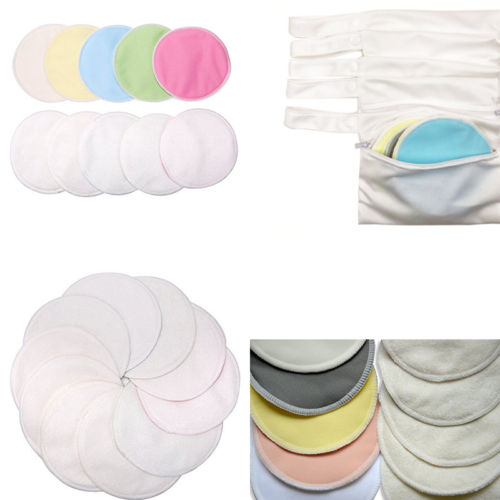 10pcs Nursing Pads With Storage Bags Organic Bamboo Waterproof Reusable Washable Nursing Breastfeeding Pads Organization