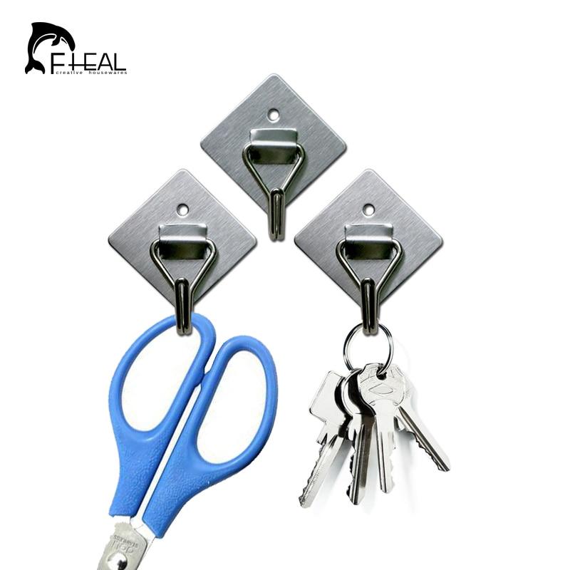 FHEAL 3db / szett Rozsdamentes acél ragasztóhorog - Szervezés és tárolás