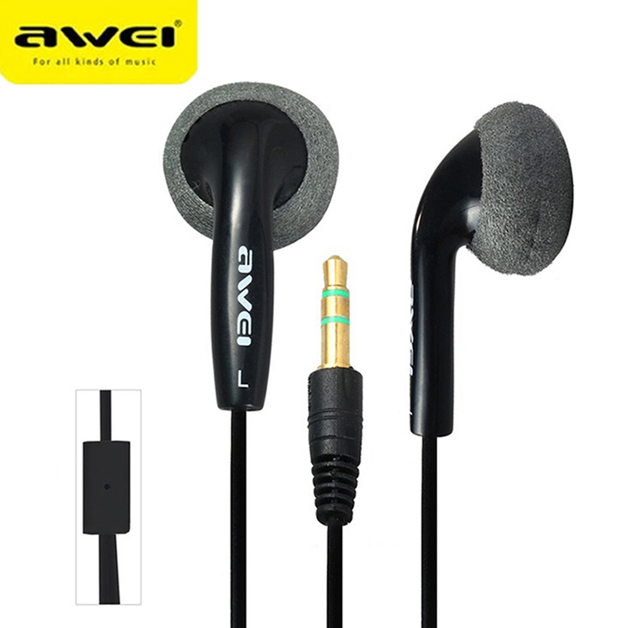 Awei Earpieces Earbuds Headset Headphone In-ear Earphone For Your In Ear Phone Buds iPhone Samsung Player Smartphone Computer PC awei wired stereo headphone with mic microphone in ear earphone for your in ear phone buds iphone samsung player headset earbuds