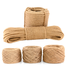 15M 4mm 5mm 7mm Natural Jute 3 Shares Twisted Cord Hemp Rope DIY Craft Decoration Rope Thread for Gift Packing / Bags / Tag CD18