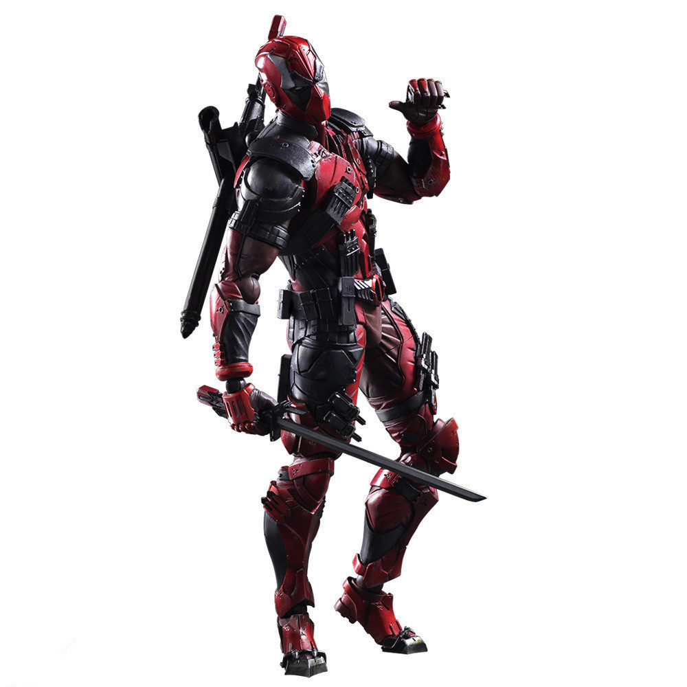 все цены на 26cm Doll Toy Deadpool Figure Wolverine X Men X-MEN Play Arts Kai Deadpool Wade Winston Wilson Play Art KAI PVC Action Figure