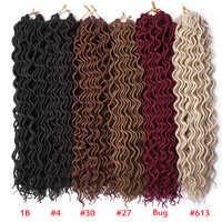 Raffinato Faux Locs Ricci Crochet Trecce 18 inch Ombre Crochet Dreadlocks Estensioni Dei Capelli Sintetici Fatti A Mano Dreads