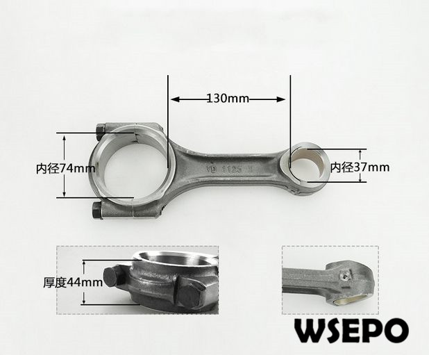 купить OEM Quality! Connecting Rod for CF1125 4 Stroke Single Cylinder Small Water Cooled Diesel Engine онлайн