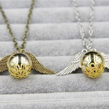 ZRM 20 шт./лот Модные ювелирные изделия Винтаж Шарм Поттер Золотой снитч ожерелье для мужчин и женщин