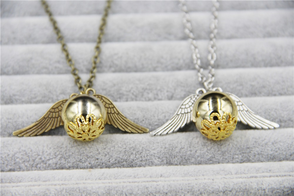 ZRM 20pcs/lot Wholesale Fashion Jewelry Vintage Charm Potter Golden Snitch Necklace For Men And Women zrm 20pcs lot wholesale fashion jewelry vintage charm potter golden snitch necklace for men and women