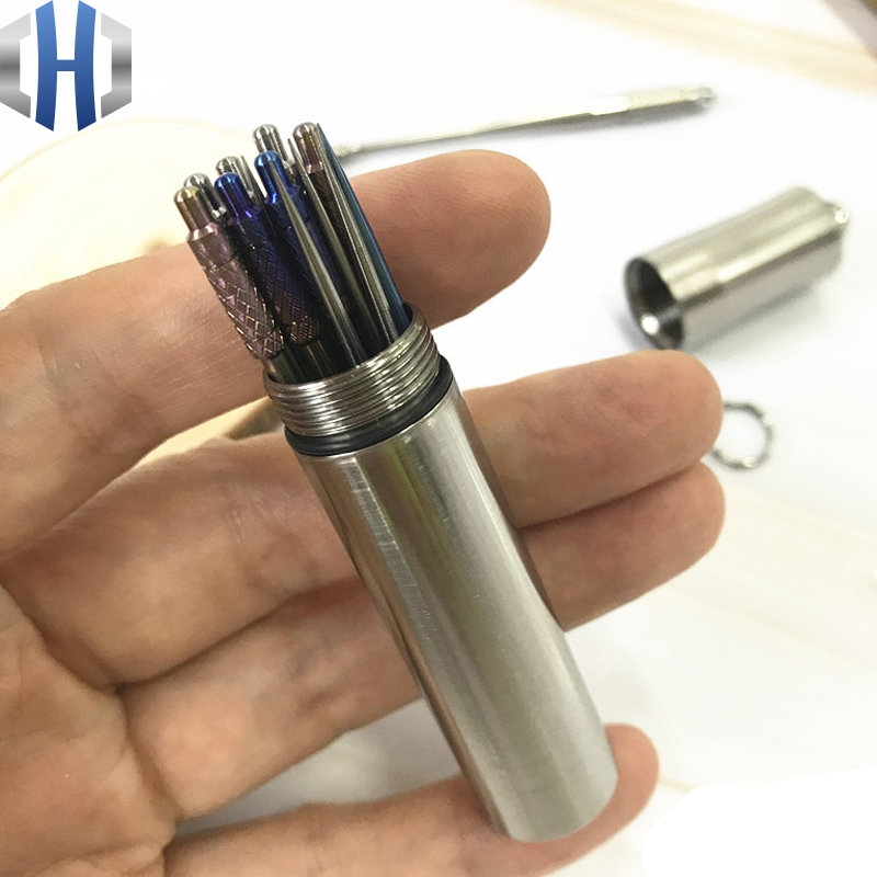 Large Size Titanium Alloy Seals Waterproof Toothpick-holder Toothpick Canister Bottle EDC Outdoor Tool