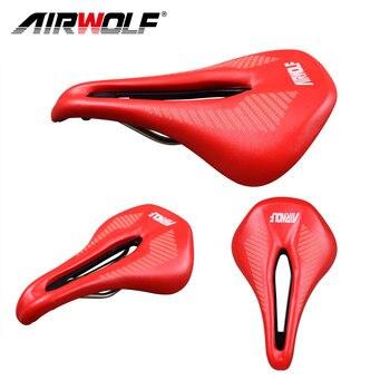 Airwolf Ciclismo Bicicleta Assento de Sela MTB Bicicleta de Estrada peças da bicicleta Sela almofada de couro Macio Respirável Oco Bicicleta Sela