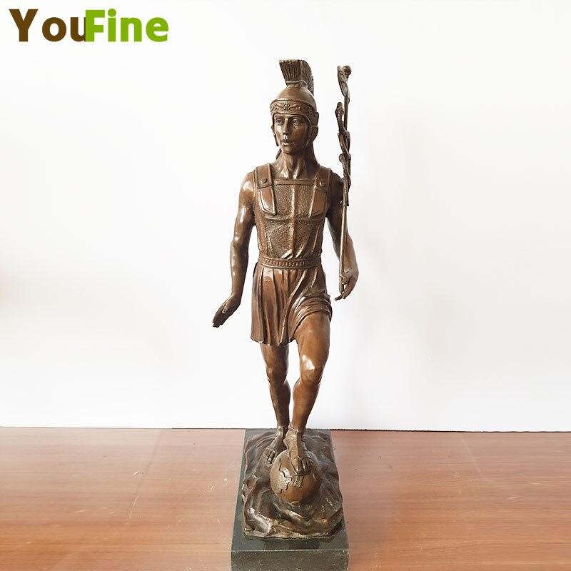 Western Art sculpture Pure Bronze Roman Warrior Statue indoor decoration