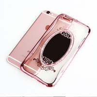 Plating Mirror Clear Soft Tpu Cover Case For IPhone 6 6s 5 Se 5s Plus 7