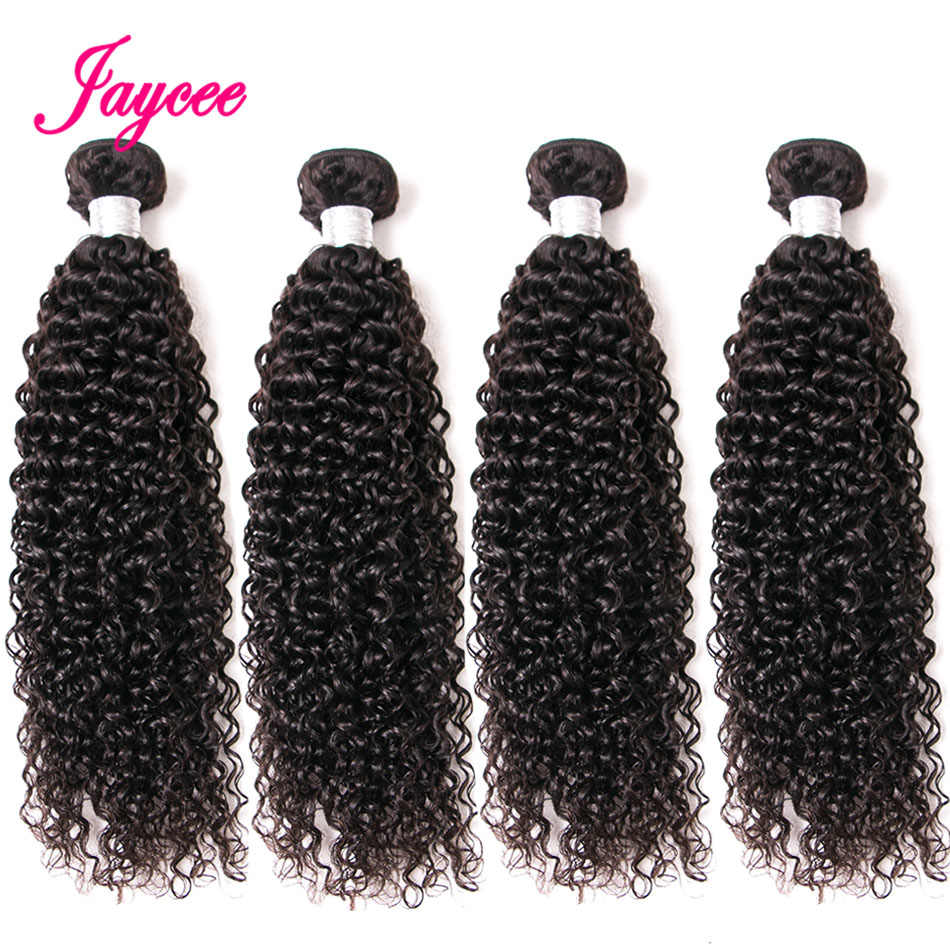 JAYCEE Cheap Bundles Brazilian Wet and Wavy Remy Human Hair 4 Bundle Deals Afro Kinky Curly Hair Cheveux Humain