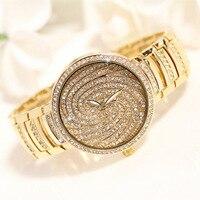 High end Luxury Fashion Brand Quartz Watch Waterproof Bracelet Watch Women Rhinestone Full Steel Wrist Watch Relogio Feminino