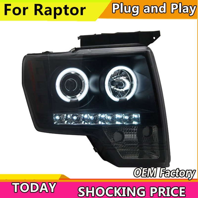 Car Styling for Ford Raptor LED Headlight F150 Headlights 2008 2014 DRL Lens Double Beam H7 HID Xenon Car Accessories-in Car Light Assembly from Automobiles & Motorcycles    1