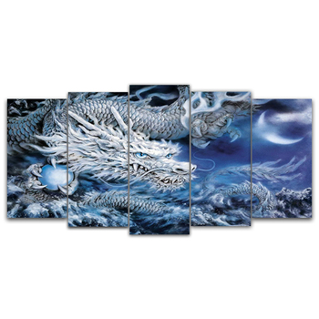 5d diy Diamond embroidery Dragon 5pcs Multi-picture Combination diamond painting Cross Stitch Rhinestone decoration