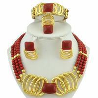 African Bead Sets Indian Jewelry Wedding Jewelry Sets Women Necklace Fine Jewelry