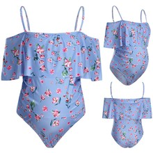 Maternity Swimsuit Women Sexy Suspender Floral Printed Monokini Bikini Female Pregnancy High Waist SwimwearNew One Piece MM624