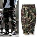Corredores De Carga dos homens de Moda de nova Camuflagem Calças Militares Para Homens Multi Bolso Macacão Calças Do Exército Tático