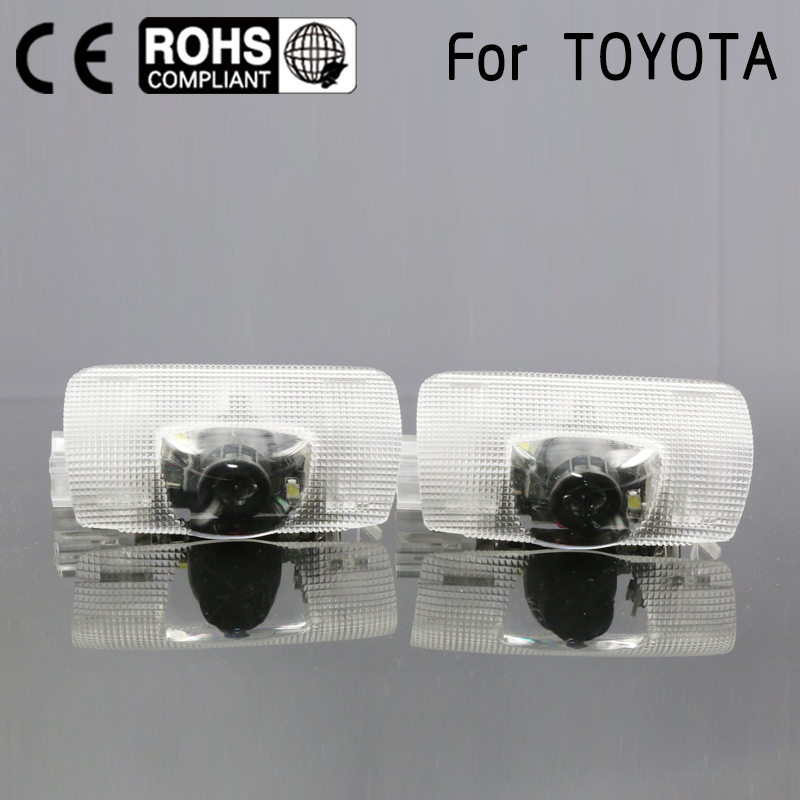 Door light replace fit For Toyota Highlander Camry corolla Reize crown Prado Prius Led door logo projector welcome light laser for toyota highlander e z prius alphard crown camr rei corolla prodo land cruise previa daytime running light