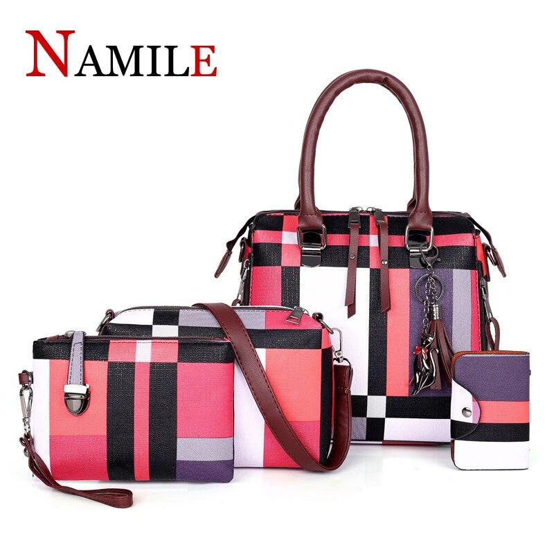 NAMILE luxe sac à main enfant sac designer 2019 gland portefeuille et sac à main ensemble 4 pièces sac femme Bolsa Feminina