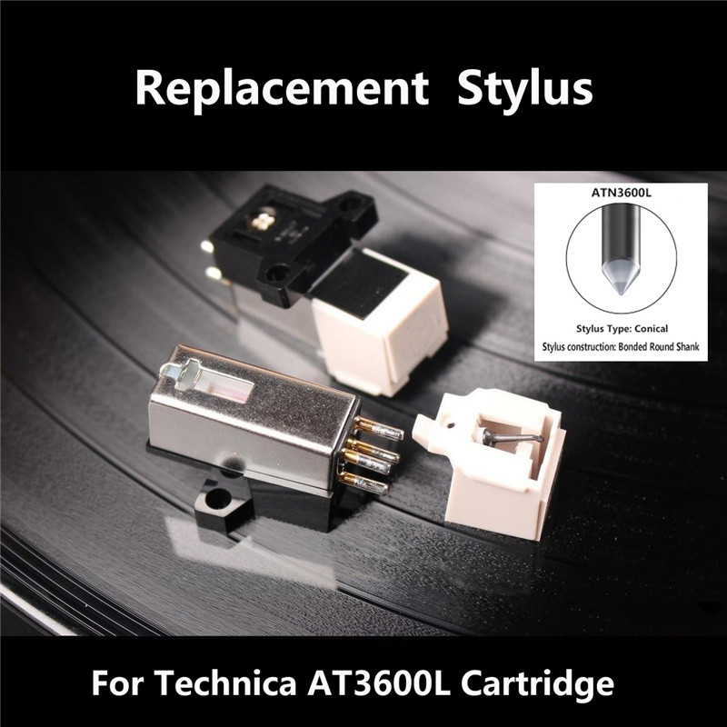 Dynamic Magnetic 20Hz-20Khz 12.5 mm Metal Needle Stylus Turntable Headshell Kit For Technica 3600L MM/LP Record Player Plastic